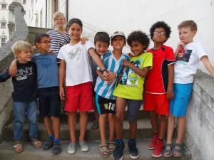Les copains de Longchamp avec Anton et Titouan : Sam, Imanol, Manine, Antoine, Anton, Titouan, Mael, Noam, Antone