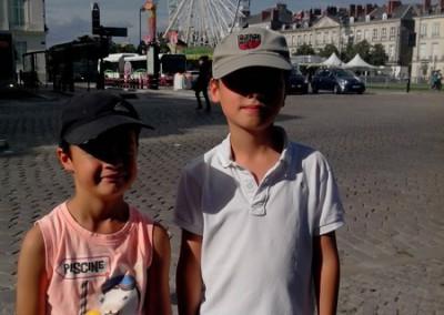 Titouan et Anton à la foire de Nantes