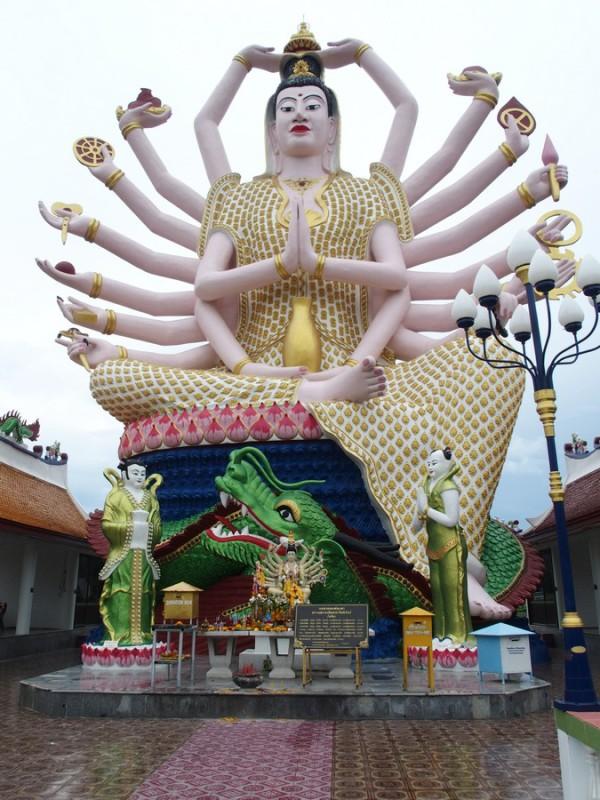 Dieu aux mains multiples - Wat Plai Laem - Koh Samui