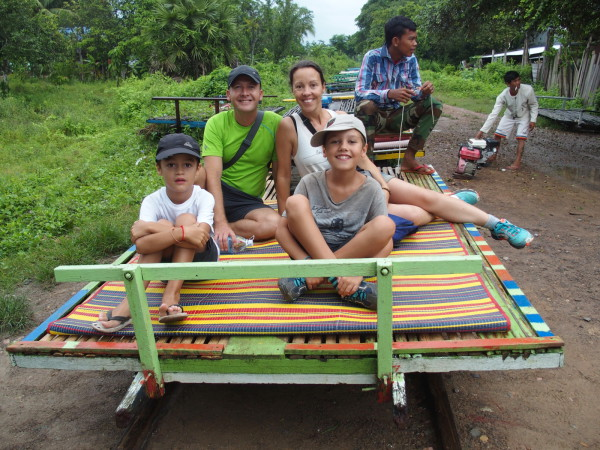 Bambou train à Battambang