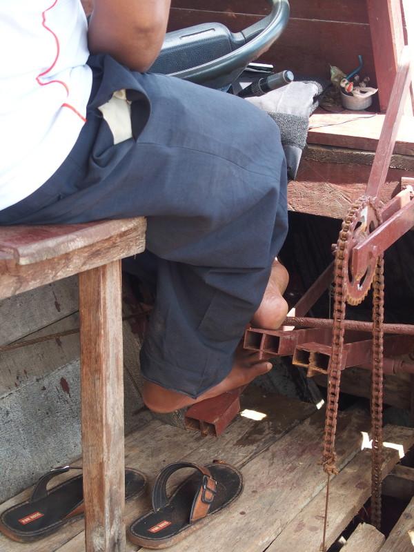 Le bateau fait maison - Mechrey - Tonle Sap - Cambodge