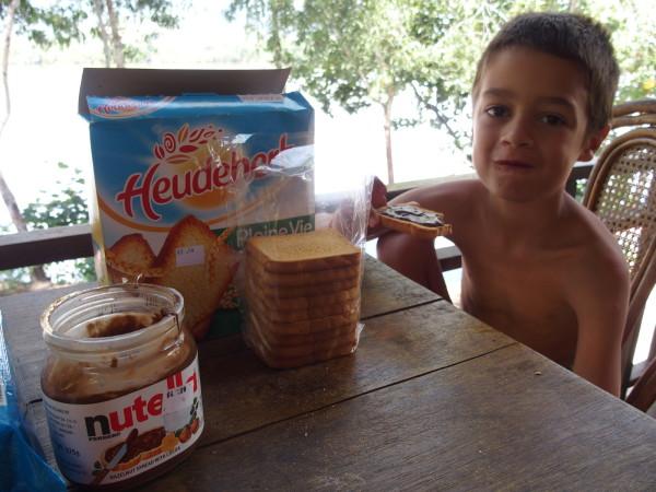 Petit déjeuner aux Manguiers - Kampot
