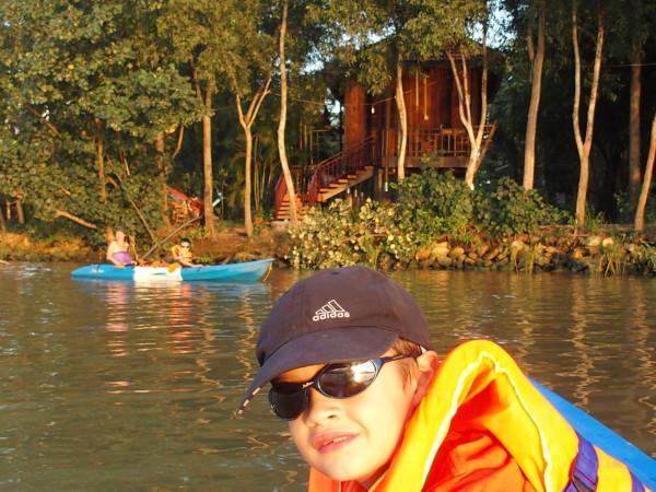Canoë sur la rivière - Les Manguiers - Kampot