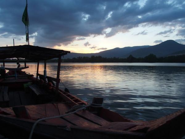 Coucher de soleil sur la rivière - Les Manguiers - Kampot