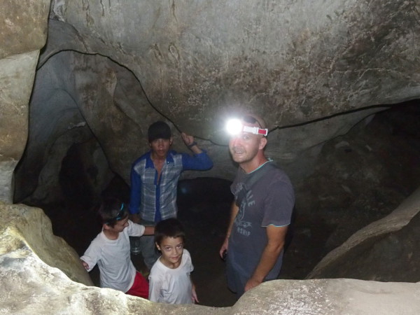 Grotte de Phnom Chnork à Kampot