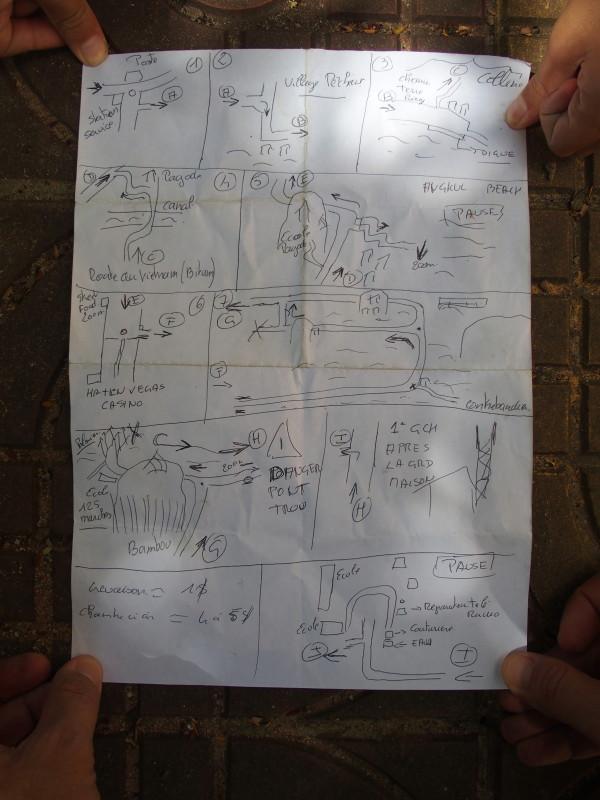 Plan de Christophe pour Kep - Cambodge