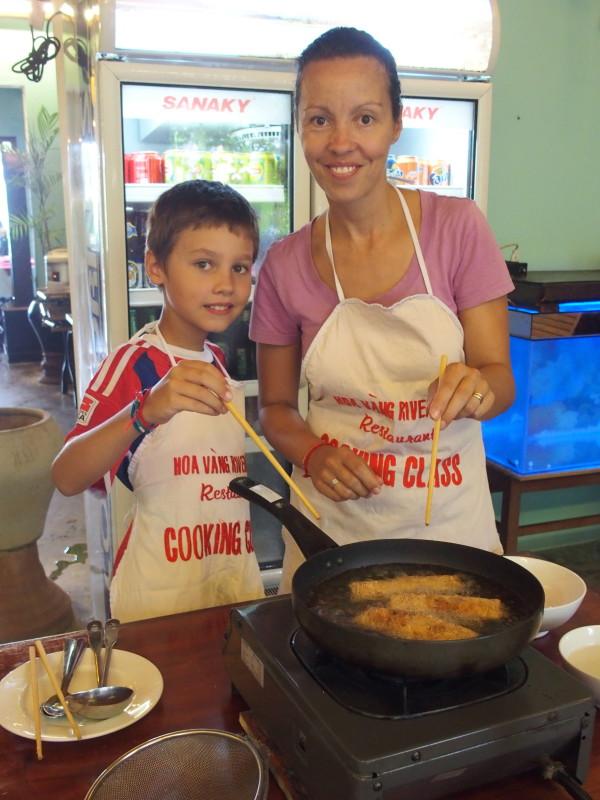 Titouan et Guinou en cooking class - Hoi An - Vietnam