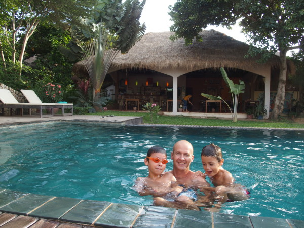 Piscine guesthouse Botanica - Kep - Cambodge