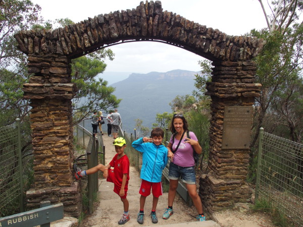 Porte à Giant stairway aux Blue Mountains - Australie