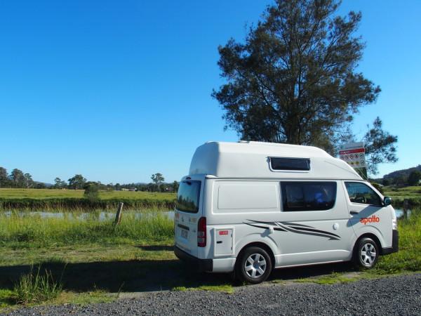 Van au réveil à Bulahdelah - Nouvelle Galles du Sud - Australie