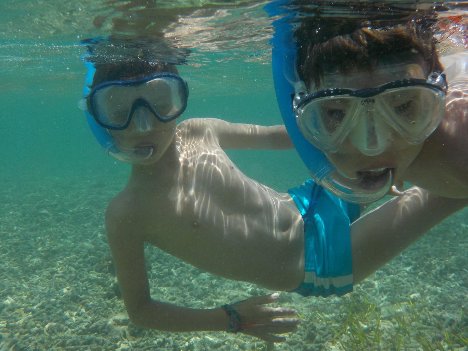 Titouan et Anton - Randonnée sous-marine à Gili Trawangan