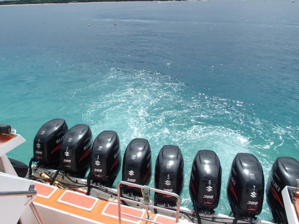 Moteurs speedboat Iles Gili