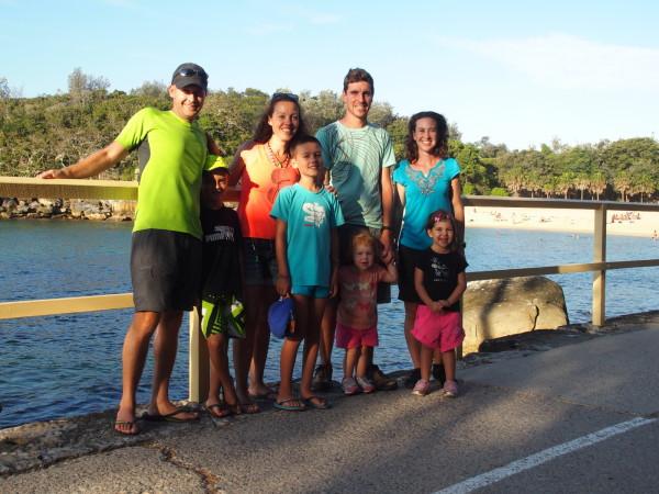 Familles Baudry et Poirier à Manly beach - Sydney - Australie